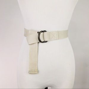 Accessories - Khaki Twill Belt D Rings Adjustable One Size